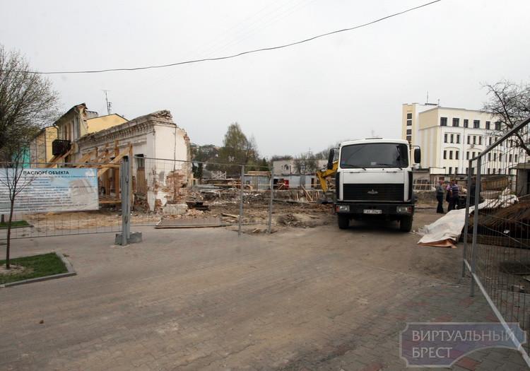 Реконструкцию домов по ул. К.Маркса ведут методом полного сноса