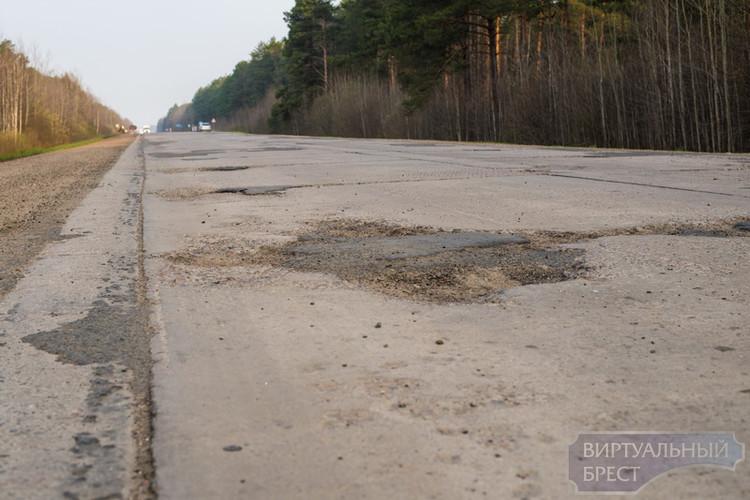 Эх, дороги... На участке Иваново - Микашевичи состояние полотна ужасное