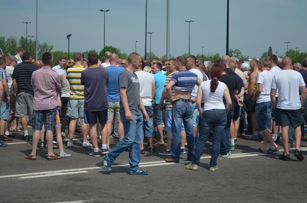В Тересполе на переходе протестуют поляки