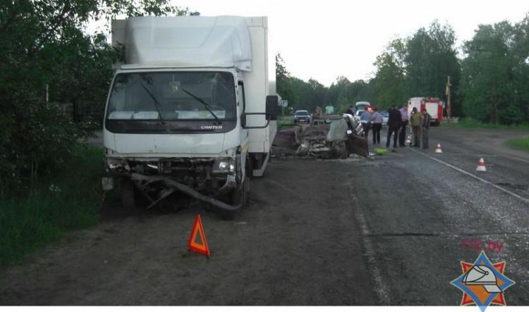 В Столинском районе столкнулись «Форд» и грузовой «Мицубиши»