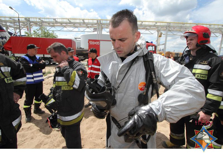 Брестские спасатели успешно выполнили поставленные задачи в ходе зарубежных учений