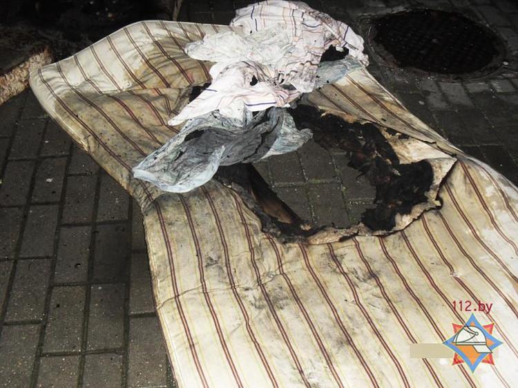 В Бресте на пожаре в девятиэтажном доме спасен мужчина