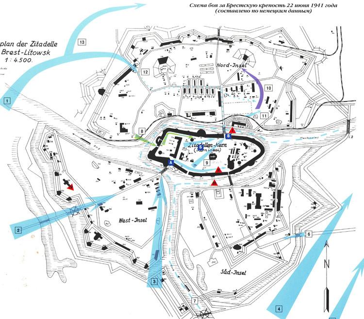 Брестская крепость карта схема