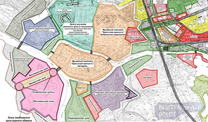 Вариант застройки территории у Брестской крепости в рамках проекта Брест-2019