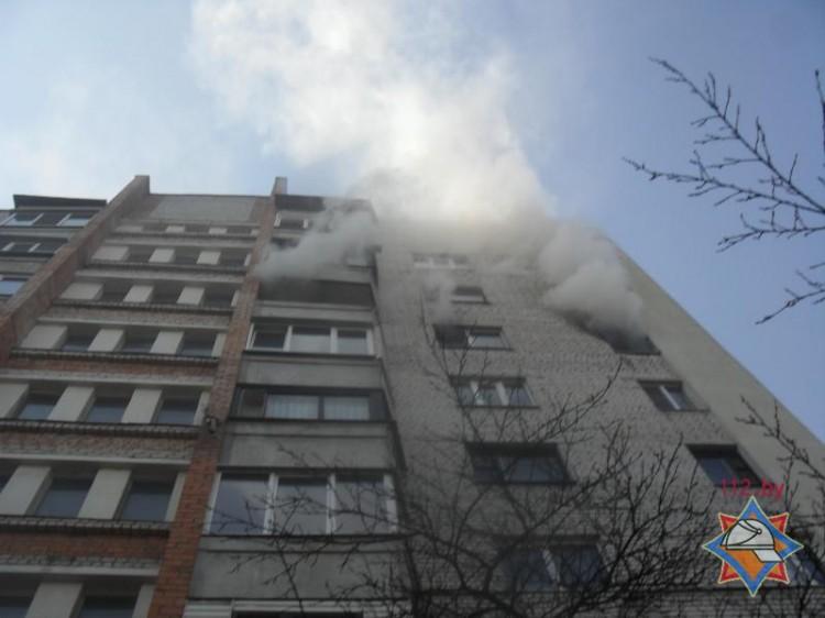 В Бресте на пожаре спасены хозяйка, ее невестка и двое внуков
