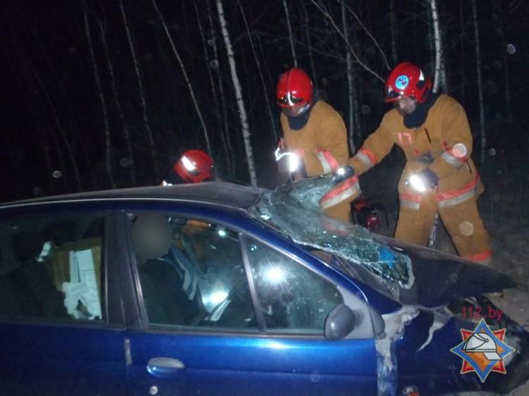 В лобовом на М-10 у д. Торгошицы спасли водителя