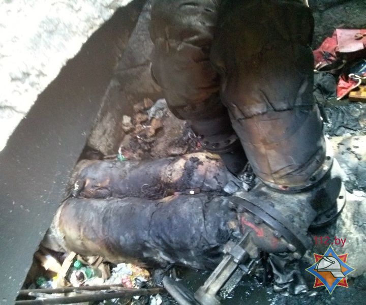 В Бресте при пожаре в коллекторе теплотрассы 1 человек погиб, 1 - спасен