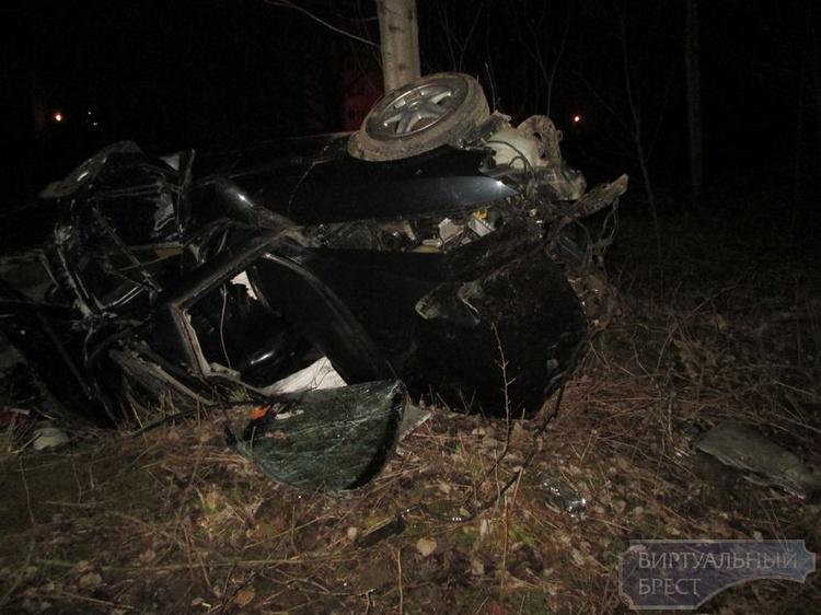 ДТП в г. Барановичи: автомобиль перевернулся, погиб мужчина