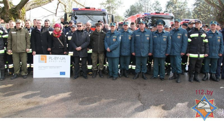 Брестские спасатели приняли участие в учении по ликвидации ДТП и лесного пожара в Польше