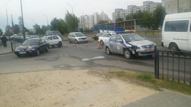 На Гродненской ДТП с участием автомобиля милиции
