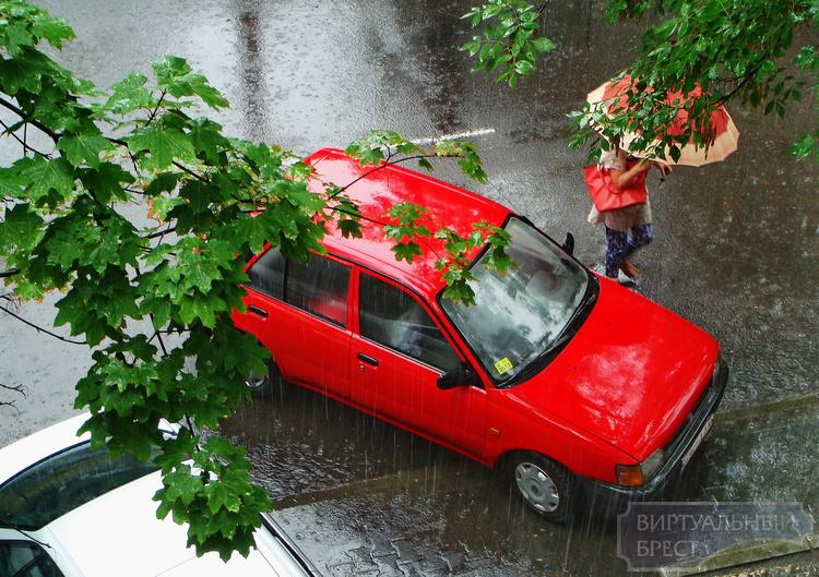 Дождь, возможно сильный, прогнозируют синоптики в Бресте сегодня после обеда