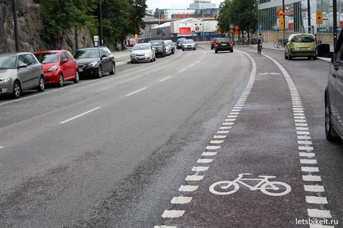 В Бресте велодорожки планируются размещать прямо на проезжей части дороги