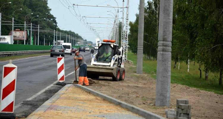 Продолжается реконструкция участка дороги со стороны въезда в Брест с трассы М1/Е30