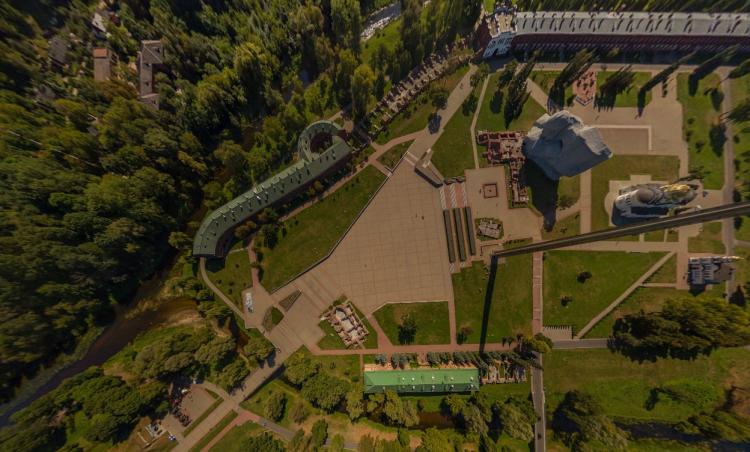 Брестская крепость: обзор 360 градусов выше уровня Мухавца