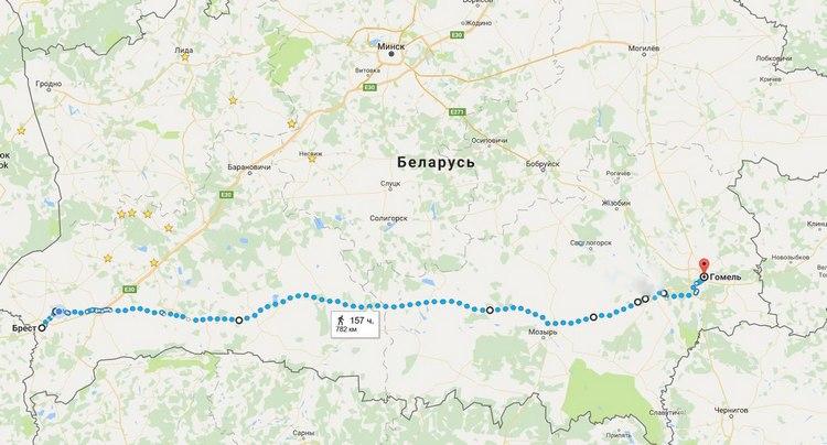 Саратовец идет по республики Белоруссии с признательностью зафлагРФ наПаралимпиаде