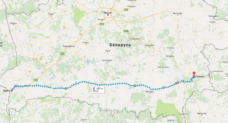 Саратовец принял решение пройти Беларусь сзапада навосток пешком