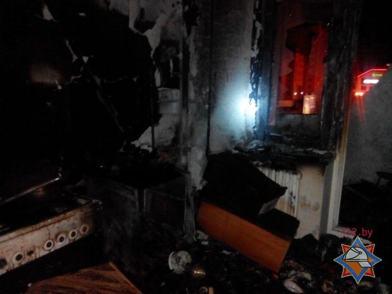 В Бресте на пожаре по ул. Московской спасена женщина