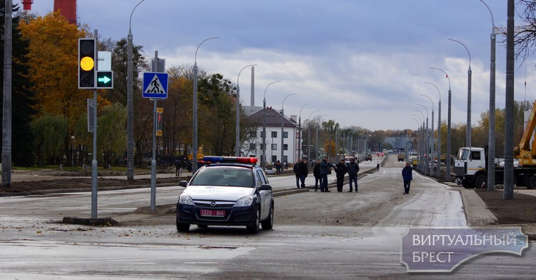 Открыто движение по проспекту Машерова от ул. Ленина до крепости