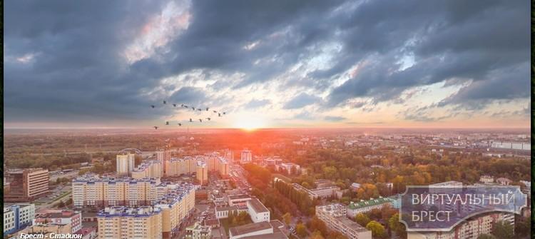 Спорткомплекс «Брестский» - обозревая с высоты #полбреста