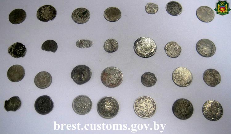 Неменее 30 раритетных монет изъяли пограничники ужителя Бреста