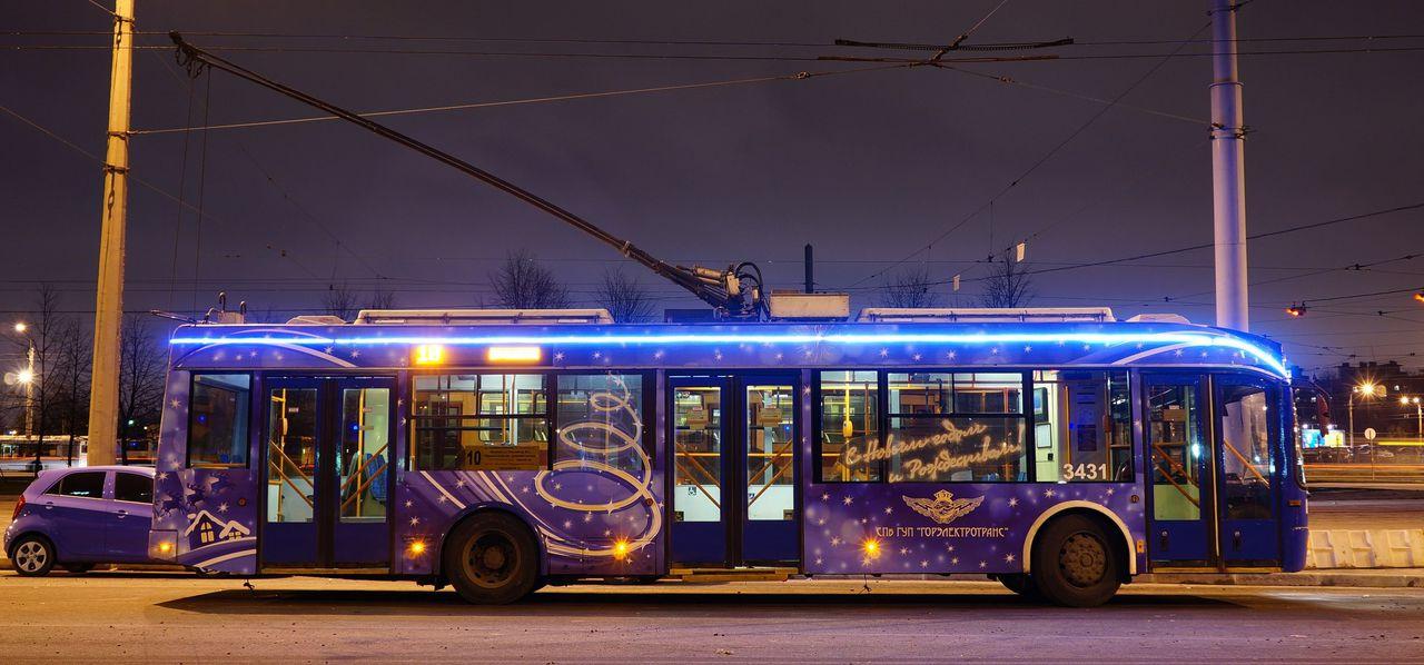 Расписание движения троллейбусов в новогоднюю ночь  с 31.12.2018г на 01.01.2019г