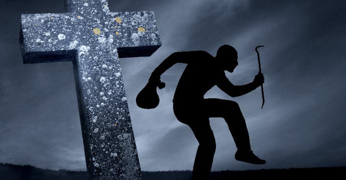 Правоохранители задержали серийных кладбищенских воров
