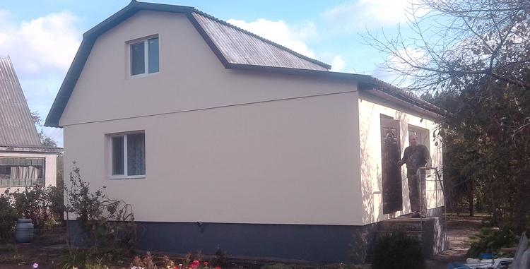 Отделка фасадов деревом частных домов
