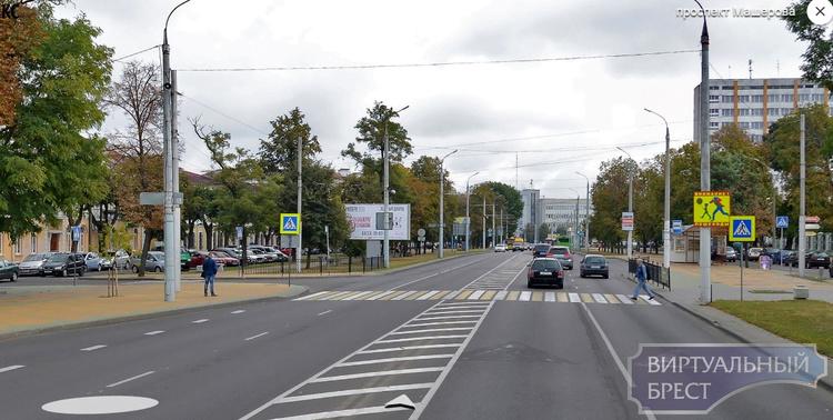 Закрывают последний нерегулируемый пешеходный переход на проспекте Машерова