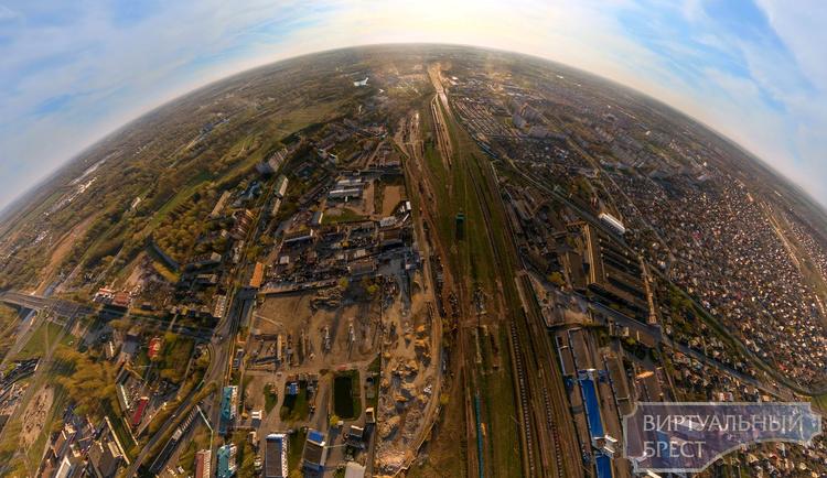 Стройка нового путепровода на Западном обходе с высоты птичьего полёта