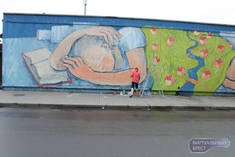 Еще одним объектом стрит-арта обзавелся Брест, размер впечатляет