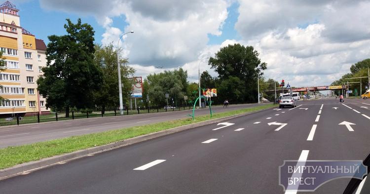 С Московской на Гродненскую - теперь две полосы налево