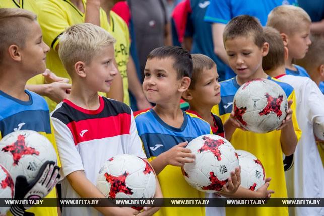 Многофункциональная спортивная площадка открылась в Кобрине