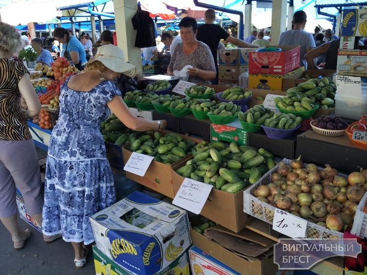 Огурцы по 0 рублей 0 копеек предлагают в Бресте на рынке
