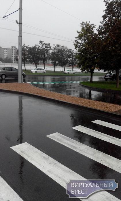 Первая велодорожка на проезжей части появилась в Бресте