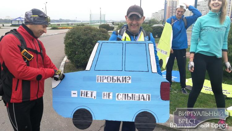 По Бресту с ветерком... Велопробег в Бресте возглавил глава областной ГАИ Сергей Талатай