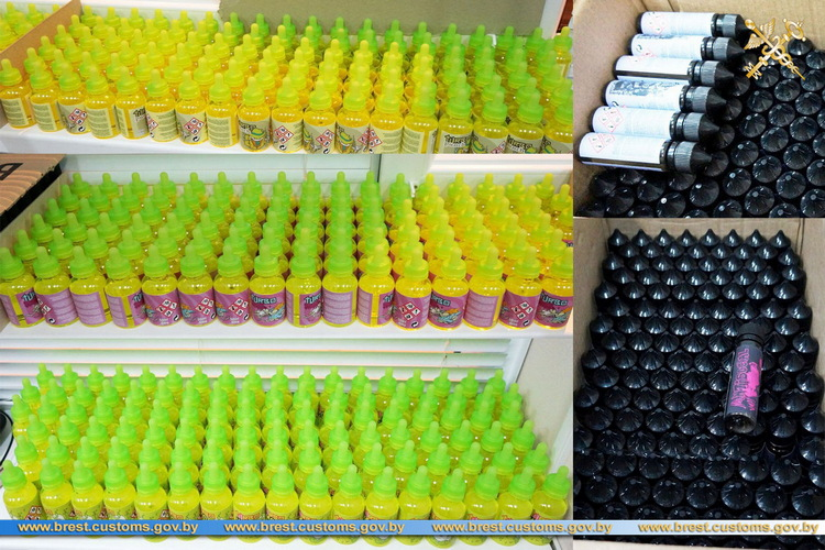 Партия жидкости для заправки электронных сигарет изъята на границе