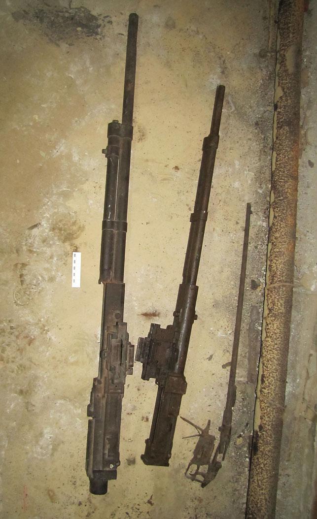 Пулемет и пушку времен ВОВ нашли на территории школы в Пружанском районе