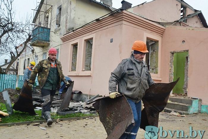 Западный обход: сносят дома на улице Поплавского в Бресте
