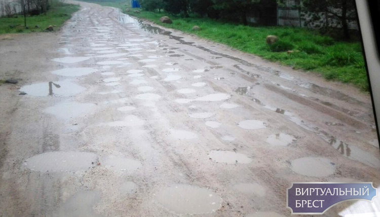 Жители ул. Лиловой в Бресте просят сделать подсыпку дороги и нормальные остановки общественного транспорта