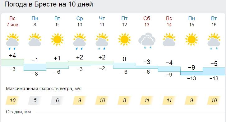 До минус 7 и гололедица ожидаются 8 января в Беларуси