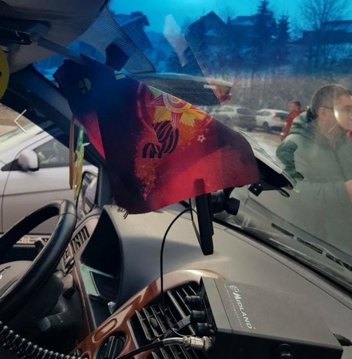 В Буковеле белорусы получили максимальный штраф за георгиевские ленты в автомобиле