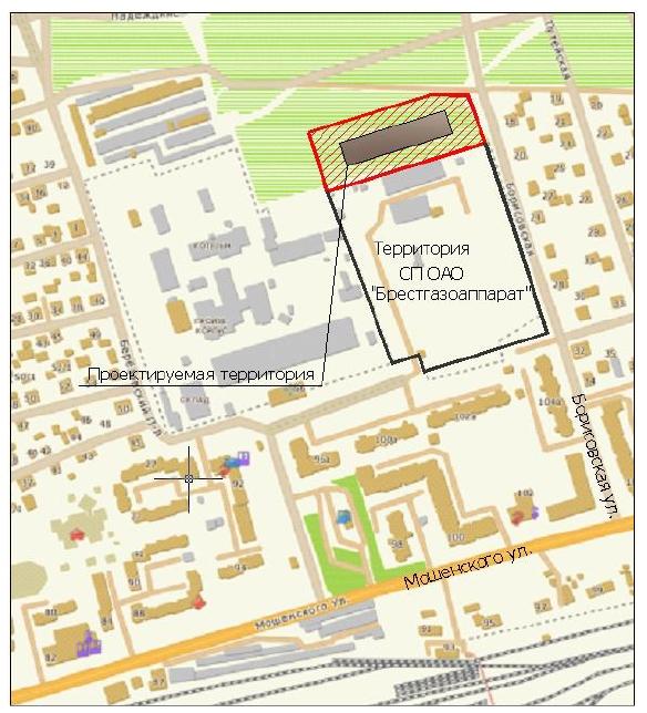 В Бресте предлагают построить участок литья ОАО Брестгазоаппарат на ул. Строительной
