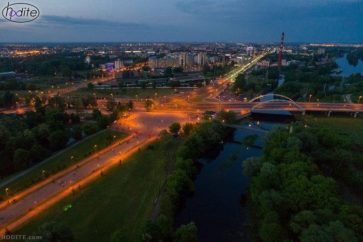 Вечерняя Брестская крепость с высоты птичьего полёта