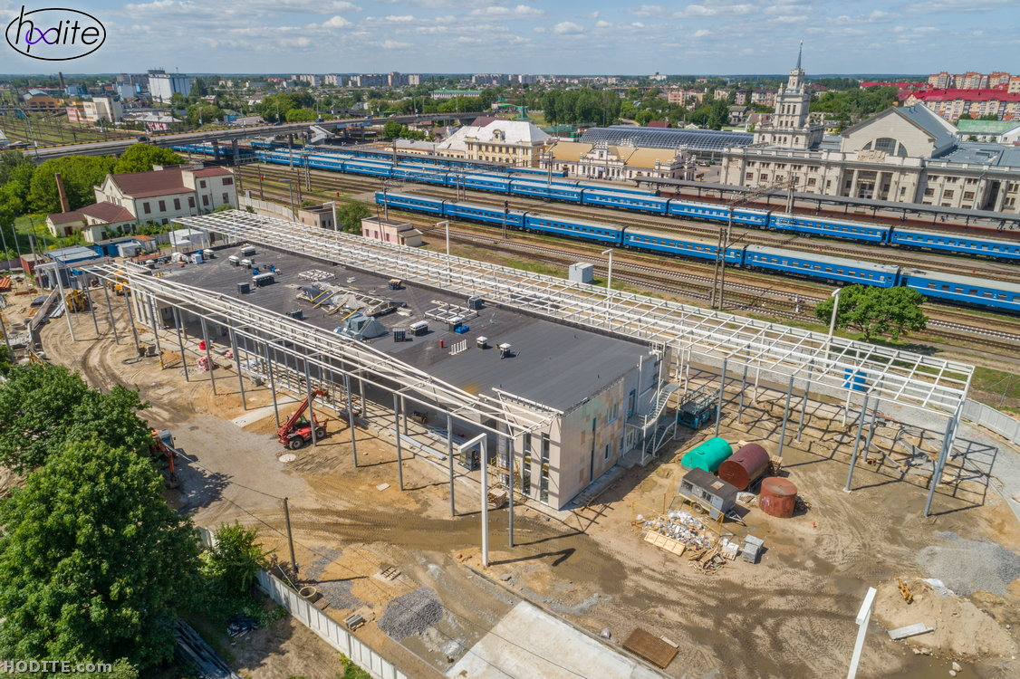 Как строится новый автовокзал на Орджоникидзе. Вид сверху