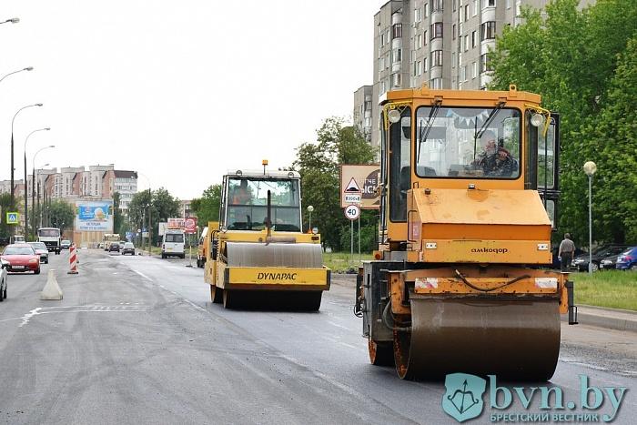 На Волгоградской в Бресте обновили дорожное покрытие
