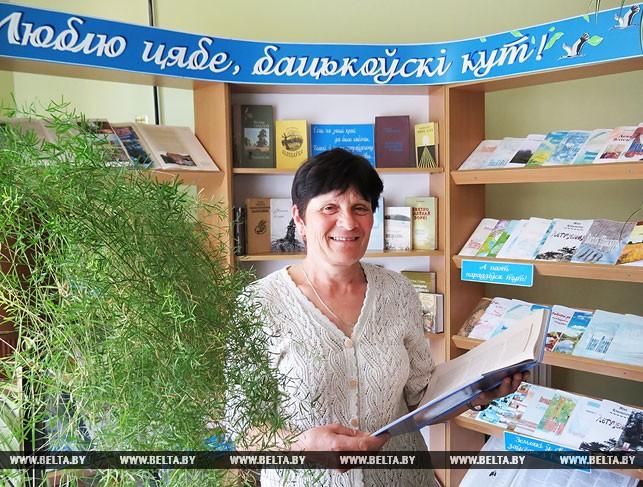 Заведующая Хотыничской сельской библиотекой Галина Свирид