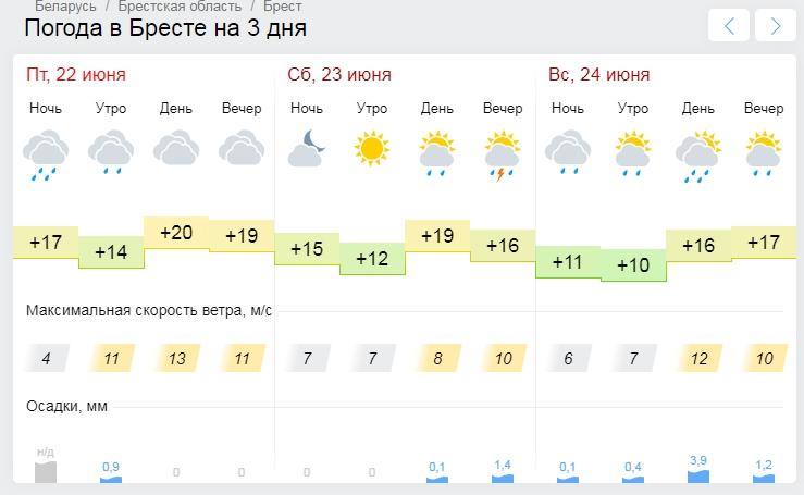 На выходных в Бресте обещают дождь. Уже в который раз