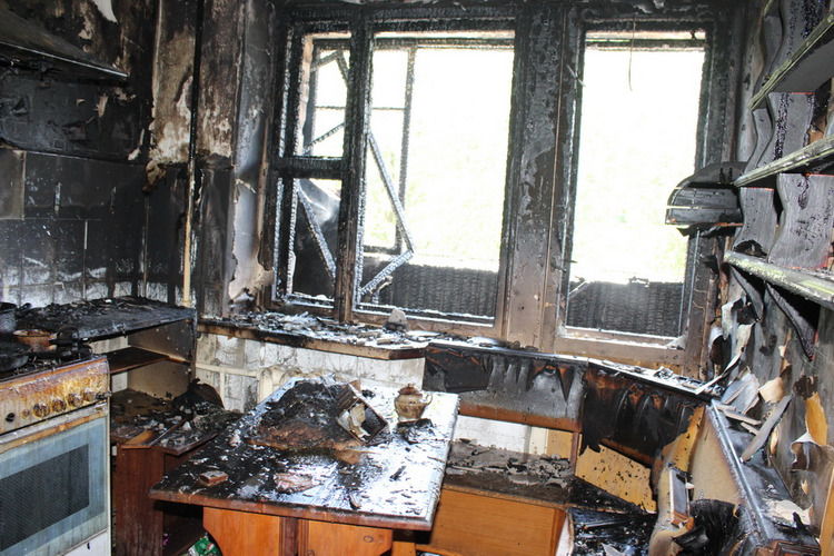 Опубликованы фотографии с пожара на Партизанском проспекте