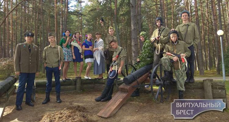 Кадеты СШ № 28 г. Бреста приняли участие в гражданско-патриотической смене «За честь Отчизны»