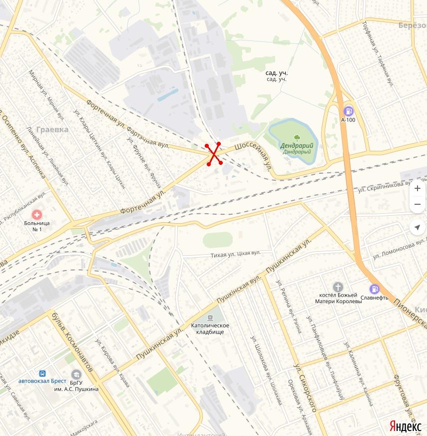 Из-за закрытия переездов по ул. Фортечной изменяются маршруты автобусов №24 и №42